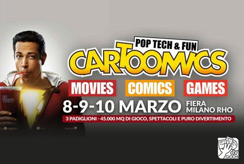 dV Giochi al Cartoomics, dall'8 al 10 marzo