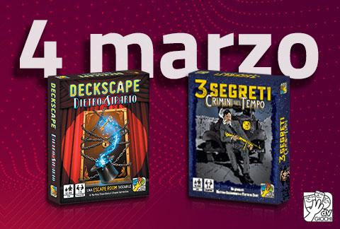 Deckscape - Dietro il sipario e 3 Segreti - Crimini nel Tempo arrivano il 4 marzo!